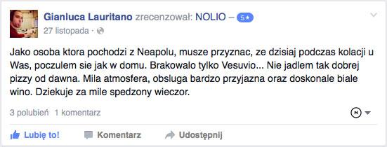 Restauracja Nolio opinie